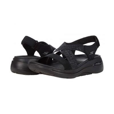 SKECHERS Performance スケッチャーズ レディース 女性用 シューズ 靴 サンダル Go Walk Arch Fit Cross Band Quarter Strap - Black