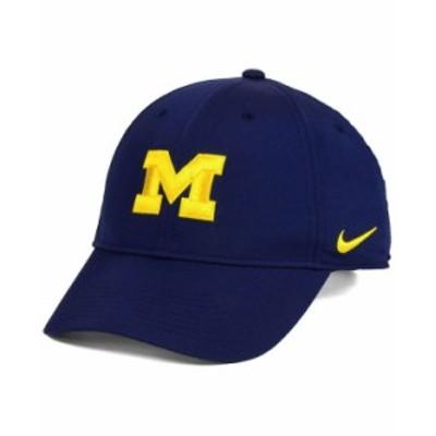 ナイキ メンズ 帽子 アクセサリー Michigan Wolverines Dri-Fit Adjustable Cap Navy