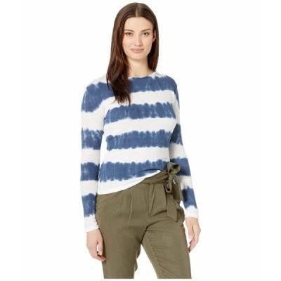 エリオットローレン シャツ トップス レディース Tie-Dye Stripe Long Sleeve Top Indigo/White