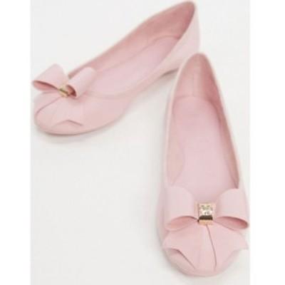 テッドベーカー Ted Baker レディース パンプス シューズ・靴 suallyz exclusive bow ballet pump in pink ピンク