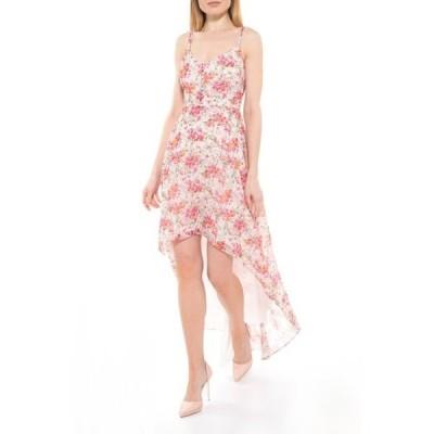 アレクシアアドマー レディース ワンピース トップス Bailey Sweetheart High/Low Maxi Dress PINK WATERCOLOR