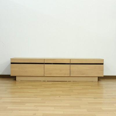 テレビ台 ローボード テレビボード 幅166cm 高さ40cm 選べる2色 オーク ウォールナット アルダー無垢材使用 木製 リビング収納 北欧風 完成品