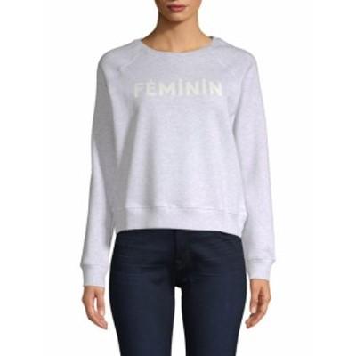レベッカミンコフ レディース トップス シャツ Text Graphic Sweatshirt