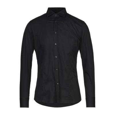 DEL SIENA シャツ ブラック 38 指定外繊維(紙) 75% / ナイロン 21% / ポリウレタン 4% シャツ