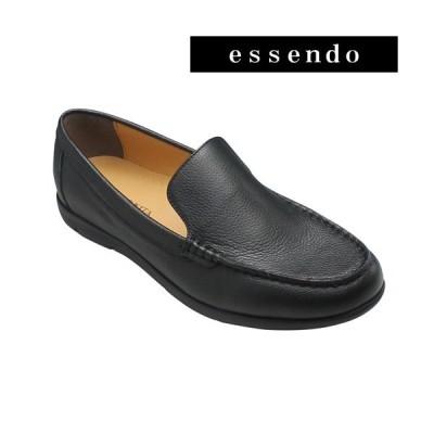 モデロヴィータ ロングノーズ 牛革スリッポン VT5686 ブラック MODELLO VITA メンズ 靴
