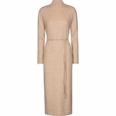 ヴィンス Vince レディース ワンピース ミドル丈 ワンピース・ドレス Belted cotton-blend knit midi dress Marzipan