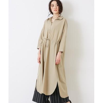 【earth music&ecology】・ドロストシャツワンピース (ワンピース)Dress