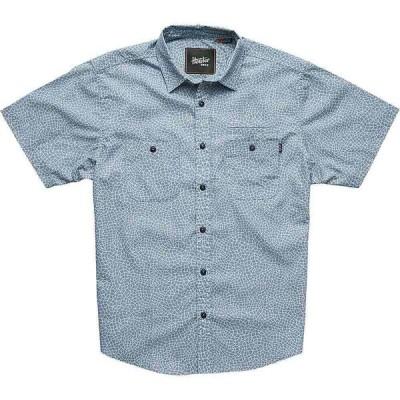 ホウラーブラザーズ Howler Brothers メンズ 半袖シャツ トップス Aransas Shirt Shattered Glass Print/Seaspray