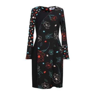 MARTA STUDIO ミニワンピース&ドレス ブラック 42 レーヨン 96% / ポリウレタン 4% ミニワンピース&ドレス