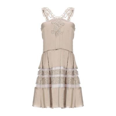 MARY C ミニワンピース&ドレス ベージュ 44 ポリエステル 60% / レーヨン 40% / ナイロン ミニワンピース&ドレス