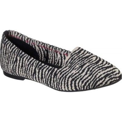 スケッチャーズ Skechers レディース スリッポン・フラット シューズ・靴 Cleo Knitty Kitty Flat Natural/Black