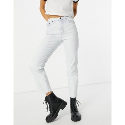 トップショップ レディース デニムパンツ ボトムス Topshop straight leg jeans in bleach wash