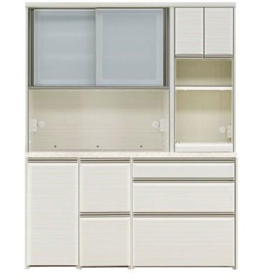 オープン食器棚 160cm幅 上下重ね レンジボード フォルツ 開梱設置