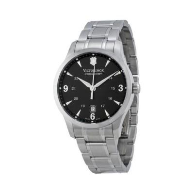 ヴィクトリノックス スイス Army Alliance ブラック ダイヤル ステンレス スチール メンズ 腕時計 241473