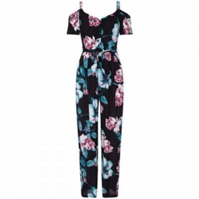 ユミ Yumi レディース オールインワン ワンピース・ドレス Flower Print Cold Shoulder Jumpsuit Black