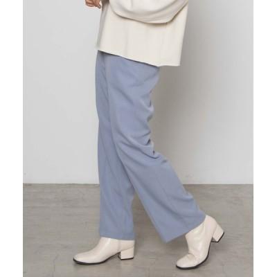 WEGO / WEGO/フラッフィーカラーストレートパンツ WOMEN パンツ > スラックス