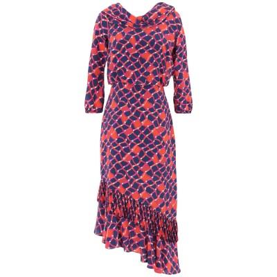 サローニ SALONI 7分丈ワンピース・ドレス ダークブルー 12 シルク 100% / ポリエステル 7分丈ワンピース・ドレス