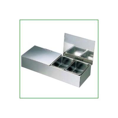 EBM 18-8 ダブルカバー式 ヤクミ入 4ヶ入 幅410×奥行160×高さ83/業務用/新品/小物送料対象商品