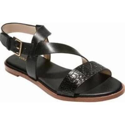 Cole Haan レディースサンダル Cole Haan Findra II Sandal Black Woven Leather
