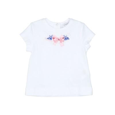 モナリザ MONNALISA T シャツ ホワイト 6 コットン 94% / ポリウレタン 6% T シャツ