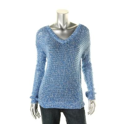 セーター アウター 防寒 アクア アクア 1965 レディース ニット オープン Stitch 長袖 プルオーバーセーター Top