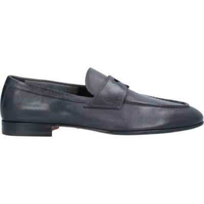 サントーニ SANTONI メンズ ローファー シューズ・靴 loafers Steel grey