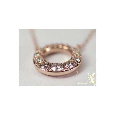 【オーダー商品】K18ピンクゴールド ラウンドモチーフ ダイヤモンド プチネックレス ダイヤモンド0.20ct【送料無料】