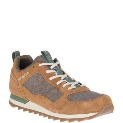メレル メンズ スニーカー シューズ Men's Alpine Leather & Nylon Lace-Up Sneaker Tobacco