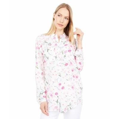 ジュールズ シャツ トップス レディース Button Through Shirt w/ Patch Pockets Cream Floral