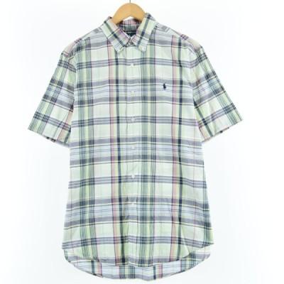 Ralph Lauren ボタンダウンチェックシャツ メンズM /eaa050051