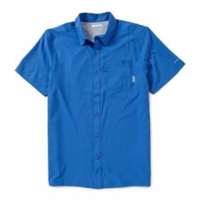 コロンビア メンズ シャツ トップス PFG Slack Tide Solid Camp Shirt Vivid Blue