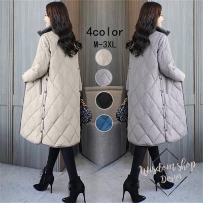 コート ダウンコート レディース 中綿 コート ダウンジャケット 秋冬 40代 カジュアル ダウンコート 軽量 大きいサイズ ファーフード アウター 4色