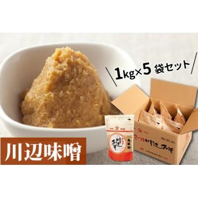 044-01 川辺味噌1kg×5袋セット