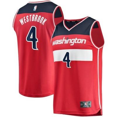 ファナティクス ブランデッド メンズ Tシャツ トップス Russell Westbrook Washington Wizards Fanatics Branded 2019/20 Fast Break Replica Jersey