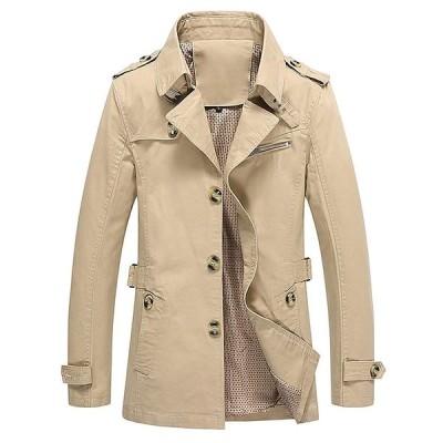 トレンチコート メンズ テーラードジャケット アウター コート スプリング 秋冬春 スタイリッシュ ボタン 綿 テラジャケ テラード シンプル