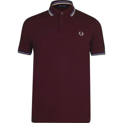フレッドペリー Fred Perry メンズ ポロシャツ 半袖 トップス Short Sleeve Twin Tipped Polo Shirt Mahogany