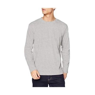 [エフスタイル] ロングTシャツ F-STYLE コットン100% ロング袖Tシャツ (ミックスグレー M)