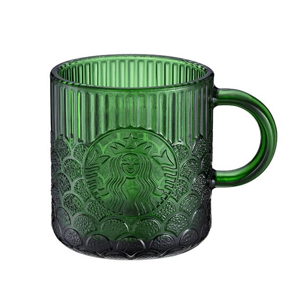 星巴克Demi碧綠女神鱗片玻璃杯