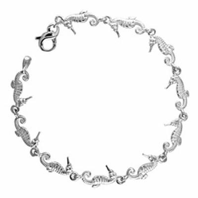 Mini Seahorse Links Bracelet in Sterling Silver