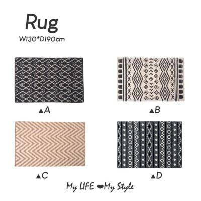 ラグ 長方形 絨毯 柄物 長方形 130×90cm カーペット おしゃれ かわいい モダン ttrl-170