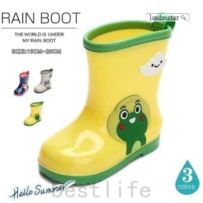 レインシューズキッズ学生雨靴梅雨対策防水滑り止めフラットショート雪おしゃれ歩きやすい可愛い男の子女の子