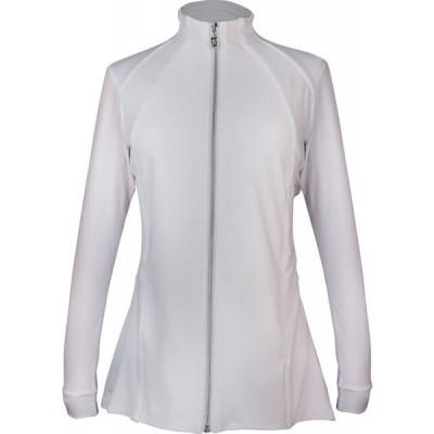 ソフィベラ Sofibella レディース ジャケット アウター Pleated Full Zip Jacket White