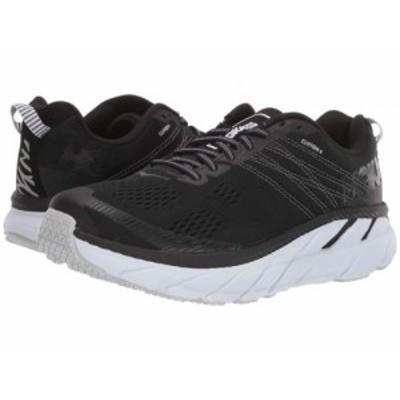 Hoka One One ホカオネオネ レディース 女性用 シューズ 靴 スニーカー 運動靴 Clifton 6 Black/White【送料無料】