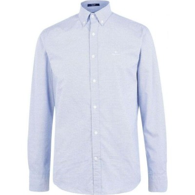 ガント Gant メンズ シャツ ワイシャツ トップス Royal Oxford Long Sleeve Shirt Blue