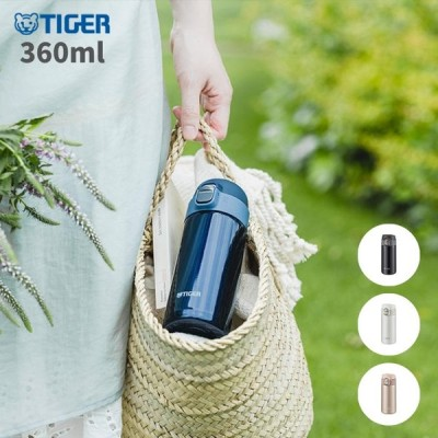 タイガー 水筒 マグ ミニ サイズ おしゃれ ワンタッチ 360ML 保温 保冷 ステンレス MMJ-A362 スポーツドリンクOK 少量 夢重力ボトル