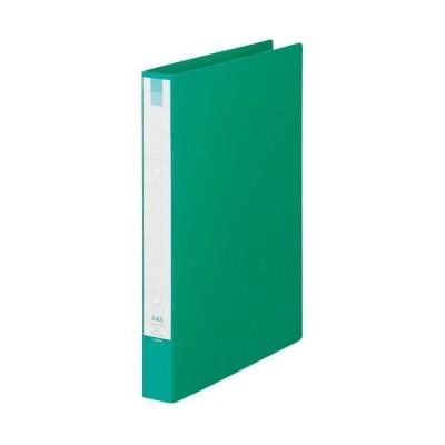 ライオン事務器 リングファイル A4タテ 2穴 210枚収容 背幅35mm グリーン 1冊