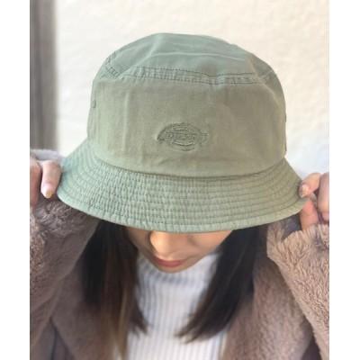 JUGLANS / Dickies WD LOGO WASHED BUCKET HAT WOMEN 帽子 > ハット