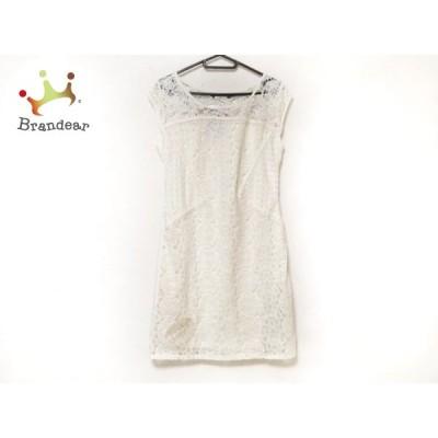デシグアル Desigual ワンピース サイズ38 L レディース 美品 - 白 ノースリーブ/ひざ丈/レース   スペシャル特価 20201017