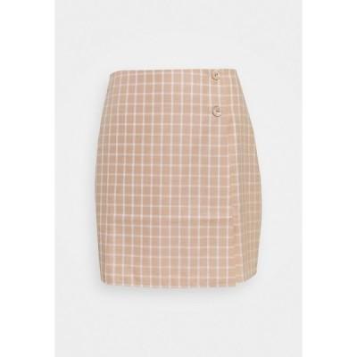 ファッションモンキー スカート レディース ボトムス JAUNE SKIRT - Mini skirt - beige/white