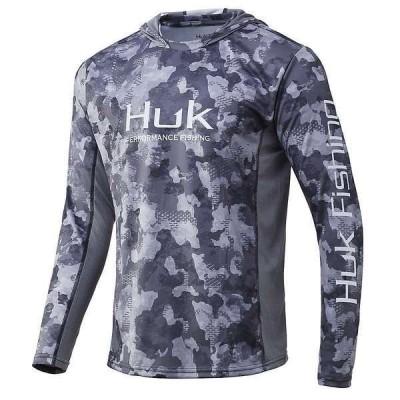 フック メンズ シャツ トップス Huk Men's Icon X KC Refraction Camo Hoodie